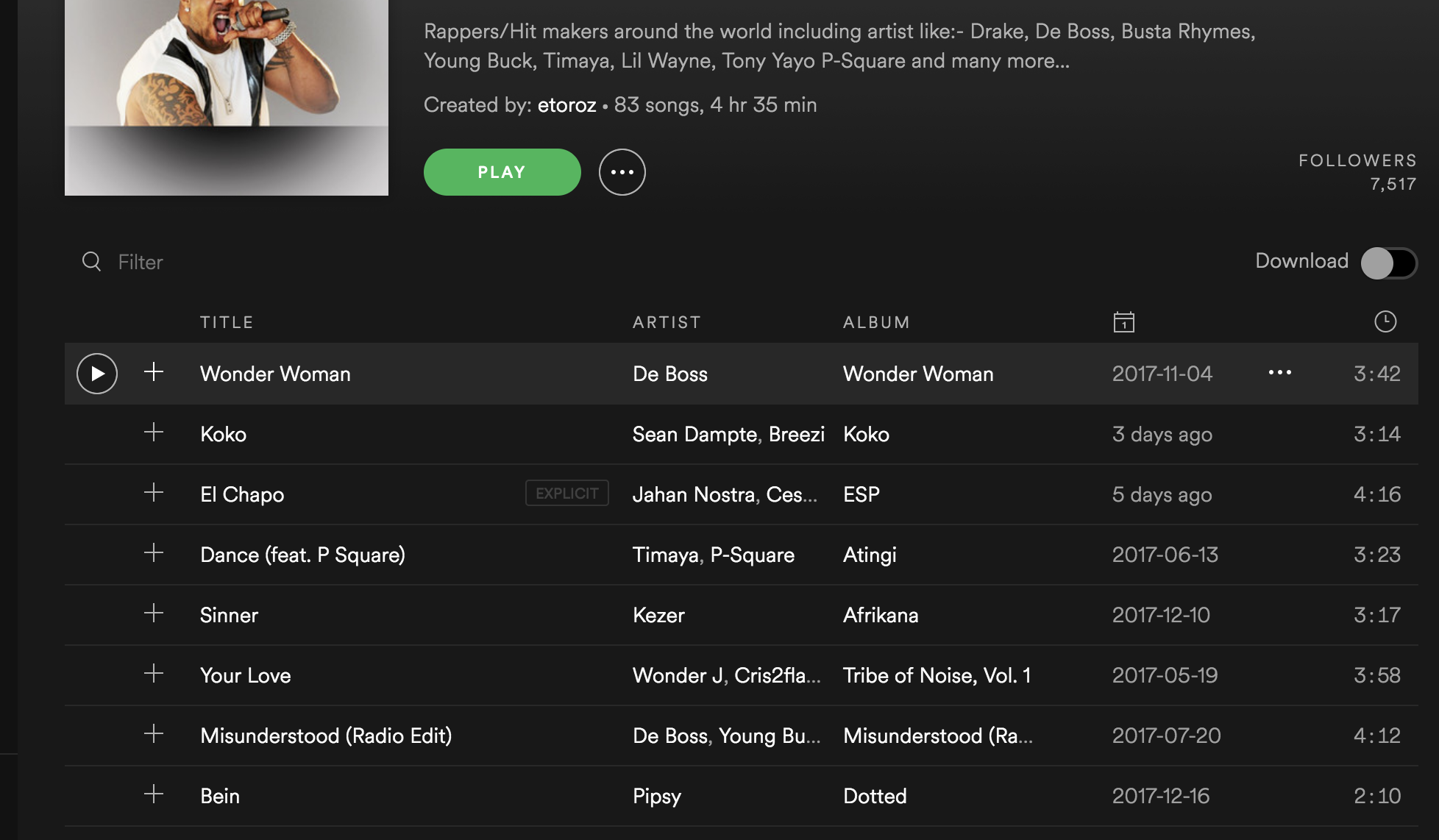 Add your song to my Bacardi Breezer Playlist and Tweet you