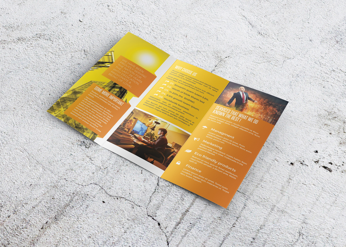 creative trendy professional Indesign Brochure