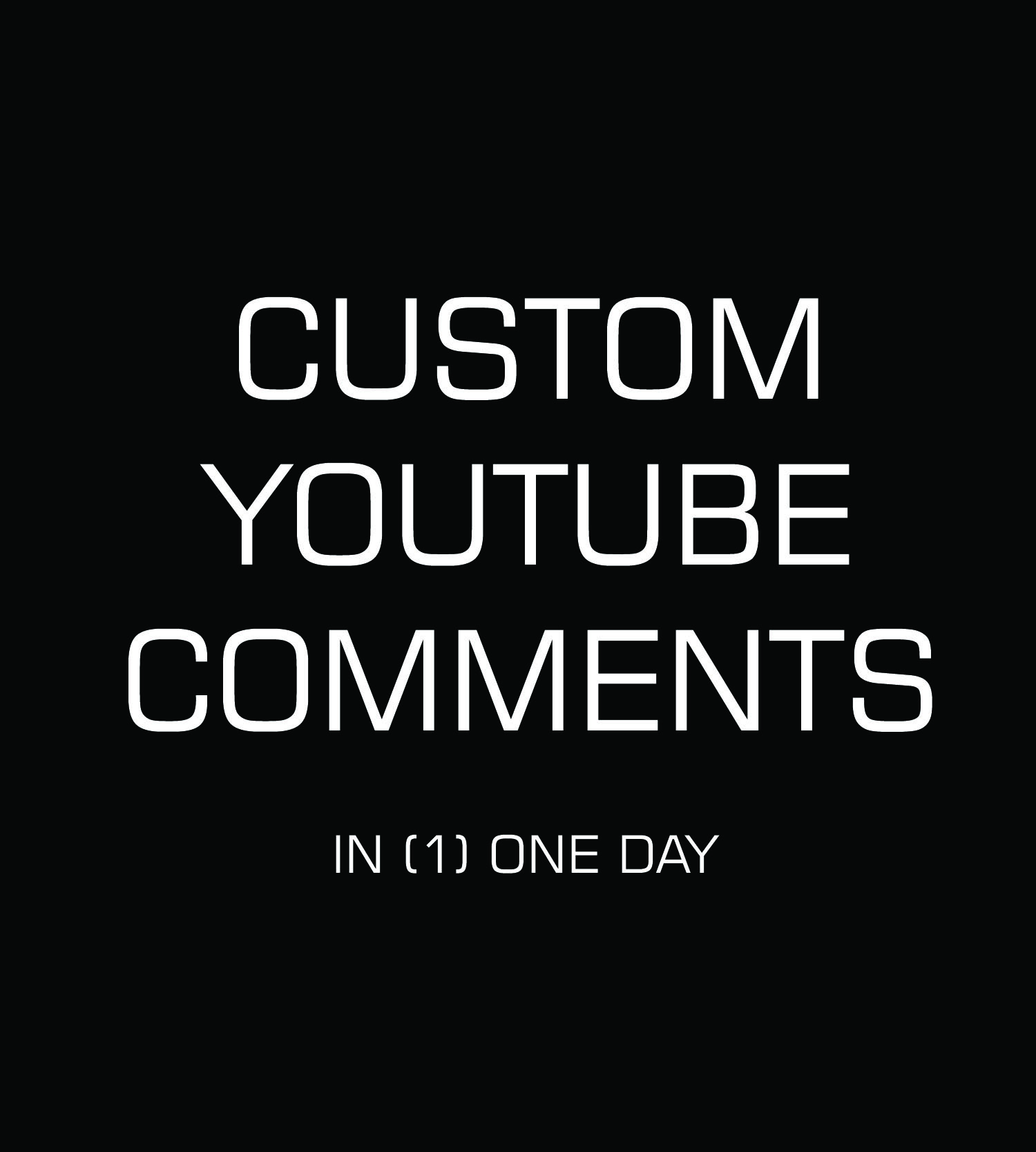 deliver 30 custom organic YouTube comments
