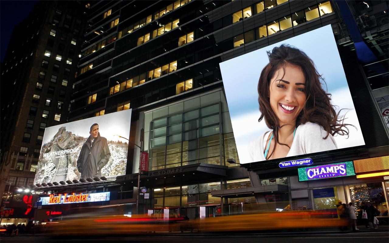 put photo or logo on 40 billboards,city posters
