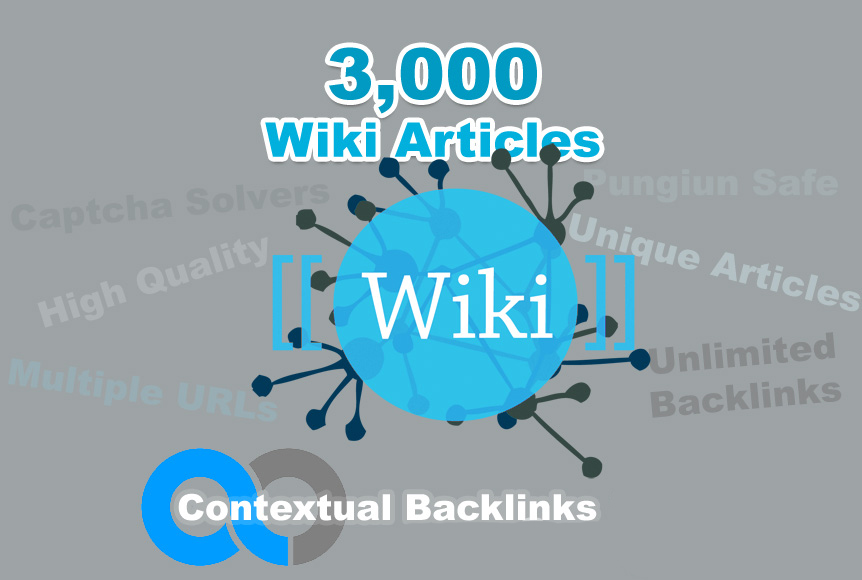Unlimited contextual Wiki Backlinks from 3,000 Wiki Articles