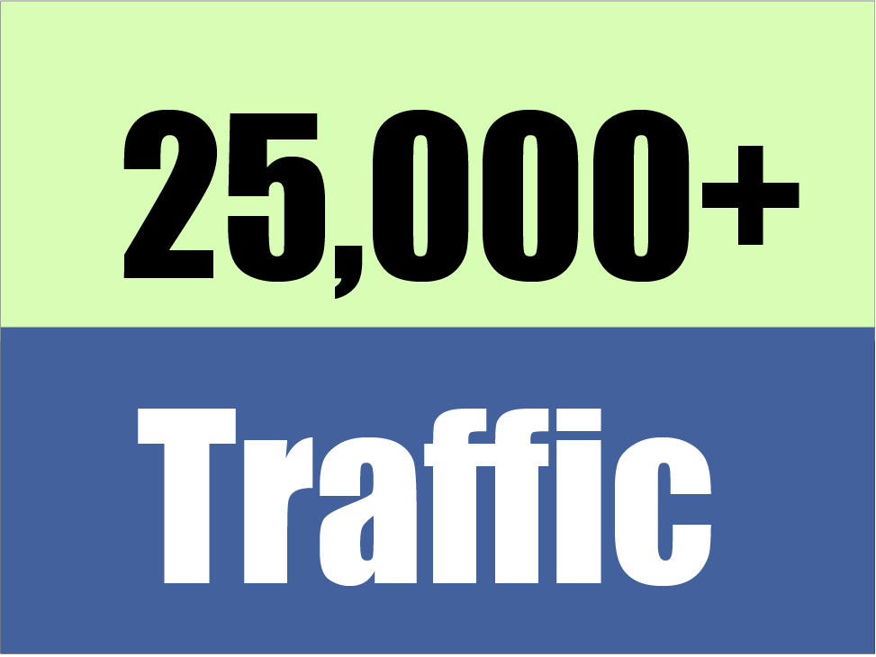 Give you Real 25,000 visitors to your website