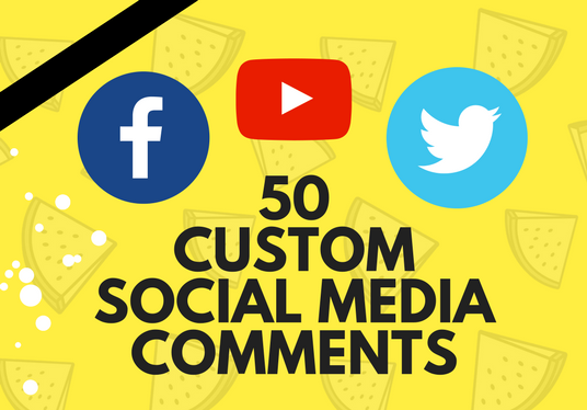 add 50 custom comments for your instagram youtube or facebook