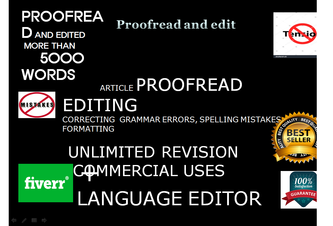 Do Article Proofreading and Editing fast more than 10000 words