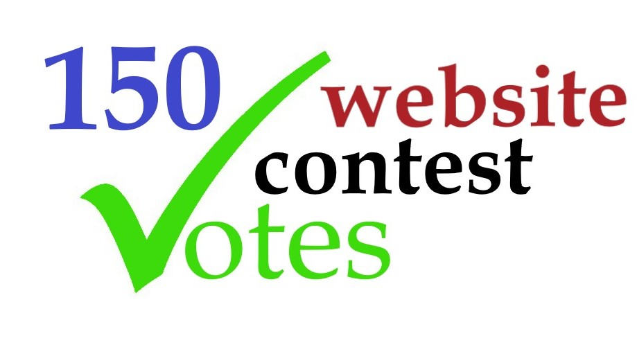 provide 150 genuine votes to your entry to any website contest