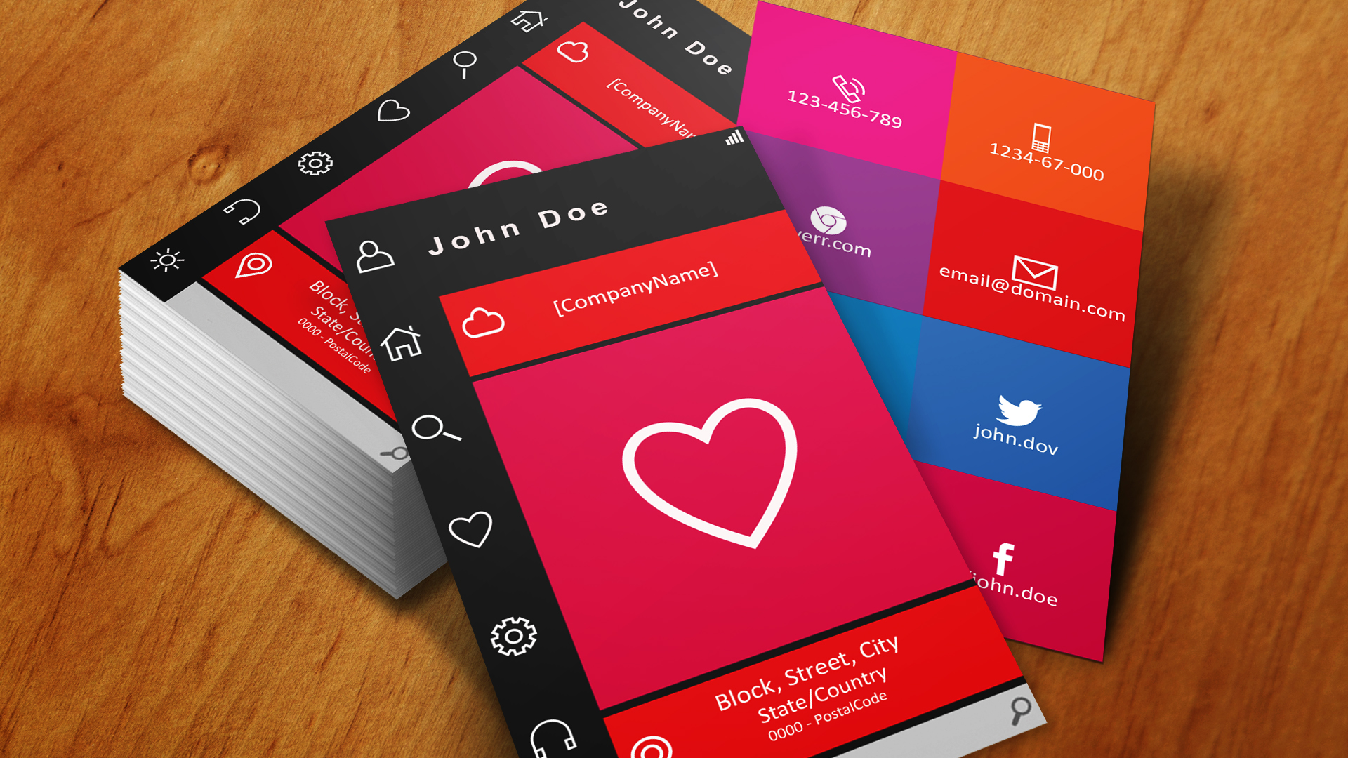 design HD Professional and colorful Business Card