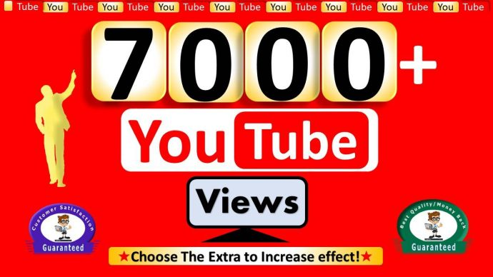 7,000 + Safe, Super Fast YouTube views 24 to 36 hrs Delivery Time