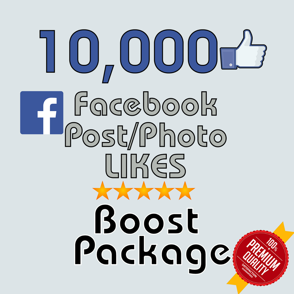 Give you Instant 10,000 Facebook Photo,Post ,Video Likes