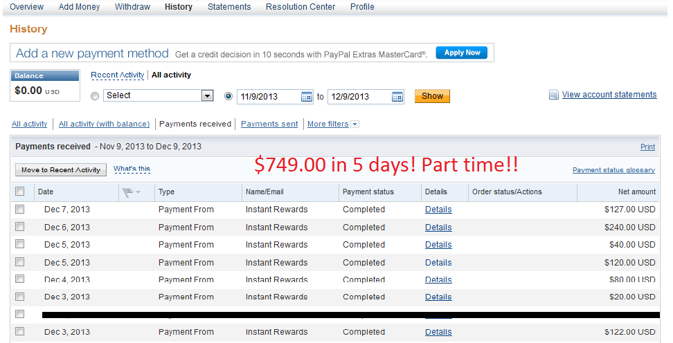 show you EXACTLY how I made $749 in 5 days from home
