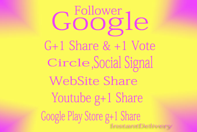 200+ GOOGLE Plus Votes For Websites Or Google Plus Followers To Your Circle