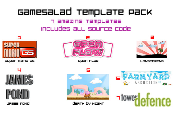 kick start your GameSalad development with my template pack