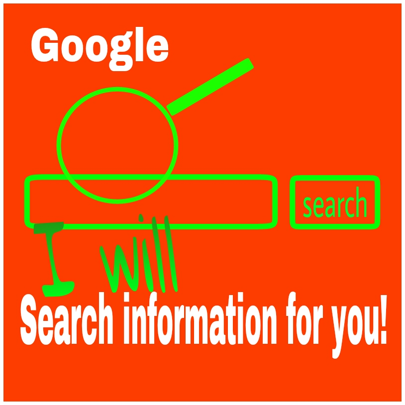 search the information you need from google