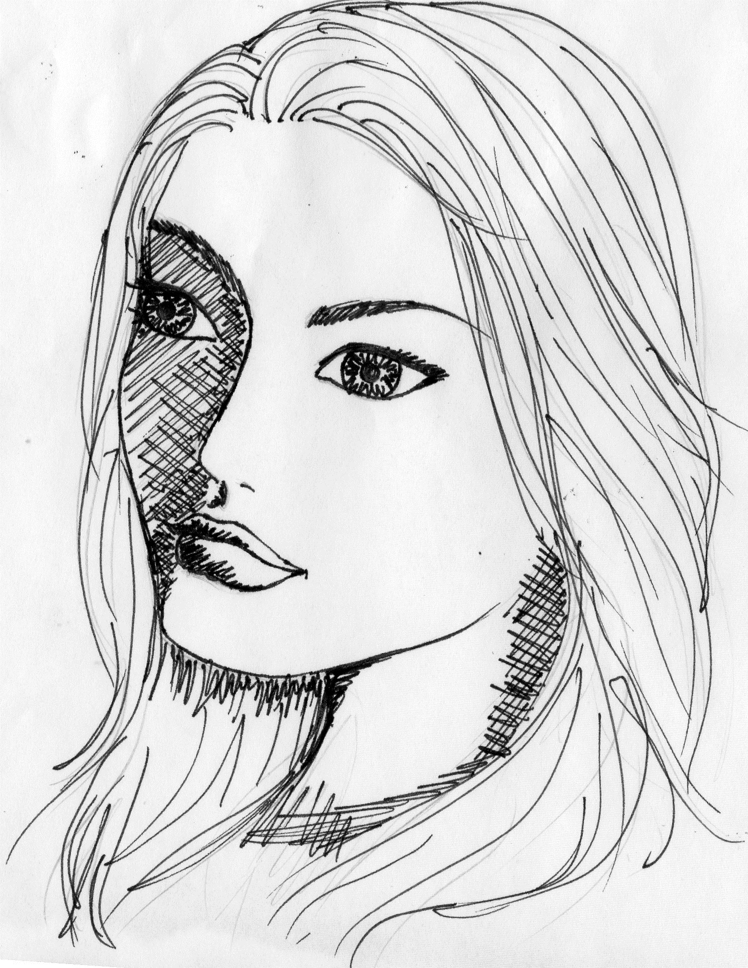 draw a picture of one or more good looking women