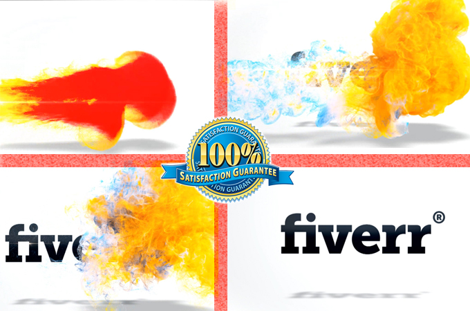 create colorful fluid ident logo reveal exclusively in HD
