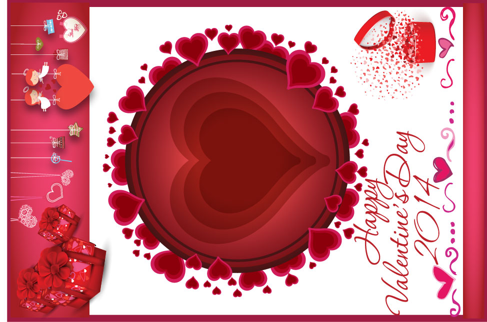 create this valentine poster with photo