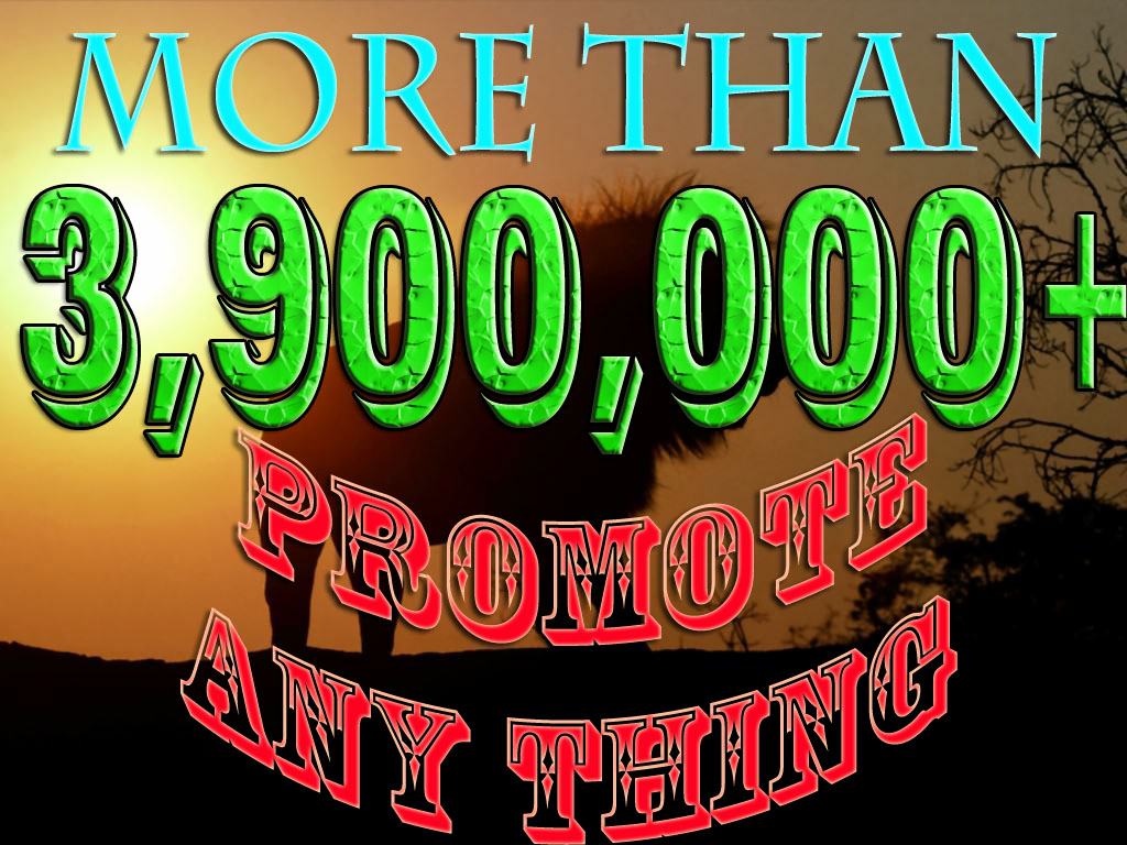 promote any link to  4,000,000 FACEBOOK  members
