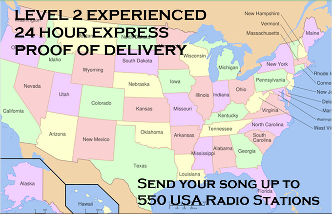 send your song up to 550 USA Radio Stations