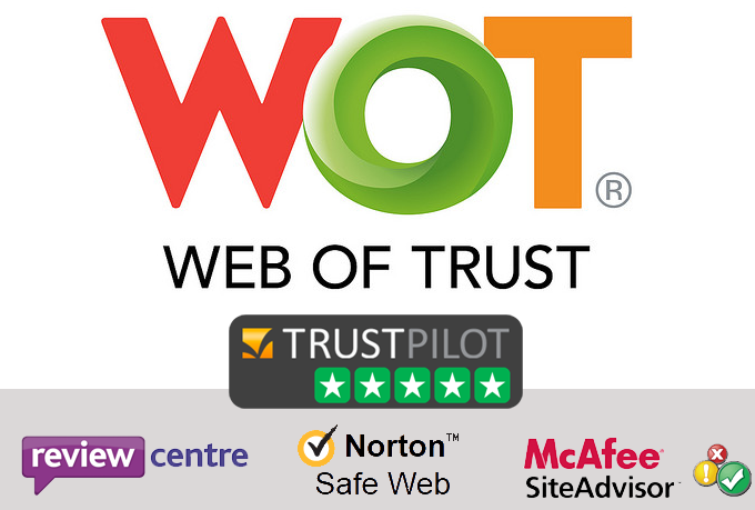 rate your website on WoT Web of Trust, Trust Pilot and MORE