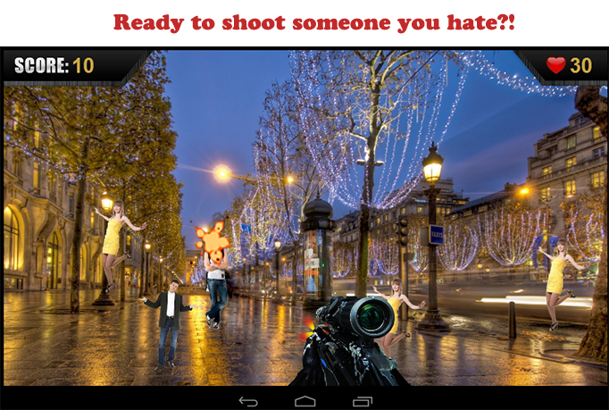 Tailor made a Hater shooting App for you, Custom target Face