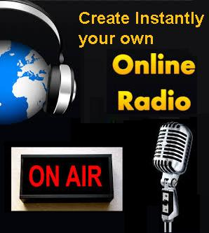 show you where you can create for free your own online Instant Radio Station