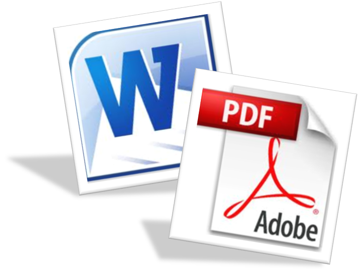 convert your 50 pages word document in pdf format with images, borders and etc.