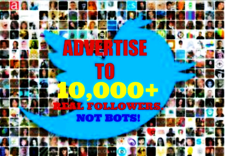 tweet your Message,Service or Link to My 9000 Followers