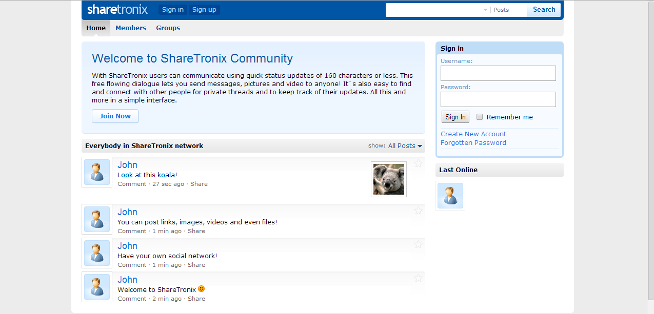 Create a social network like Facebook and Twitter for you with Hosting included