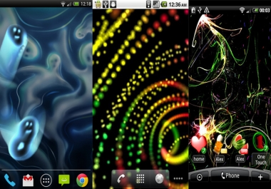 do live wallpapers in android