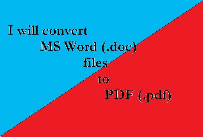 convert your ms word documents to pdf