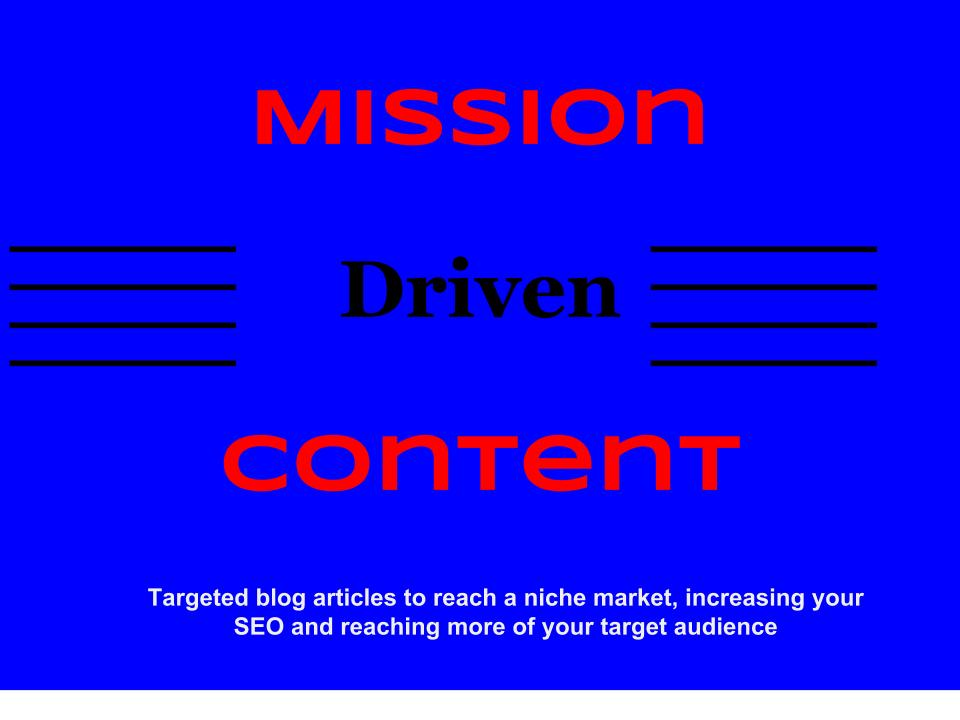 Write Mission-Driven 200 Word Blog Article