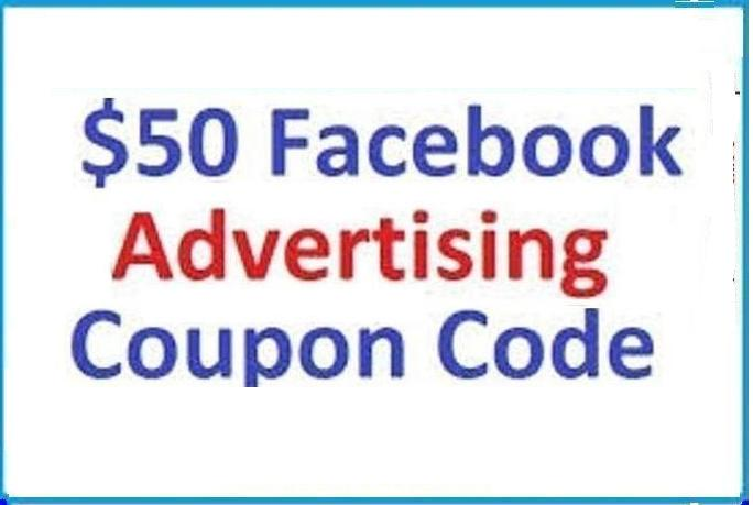 sell 50 usd Facebook Voucher Coupon for Advertise