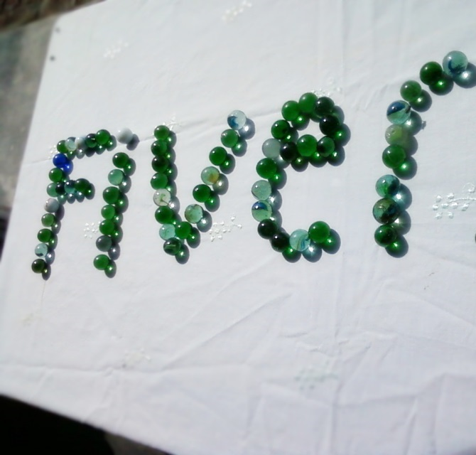 write your name with marbles