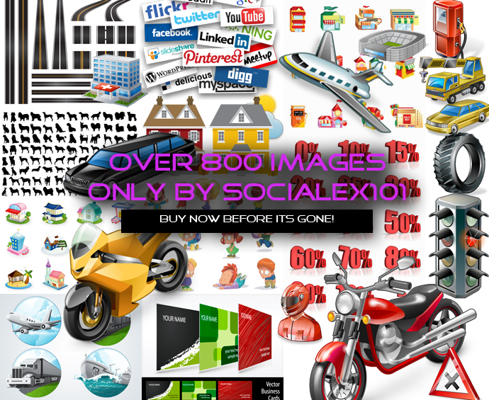 Send you over 800 images, vectors, png files and more