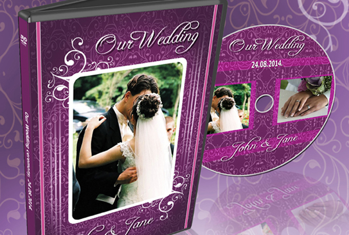 design unique cover for your wedding dvd