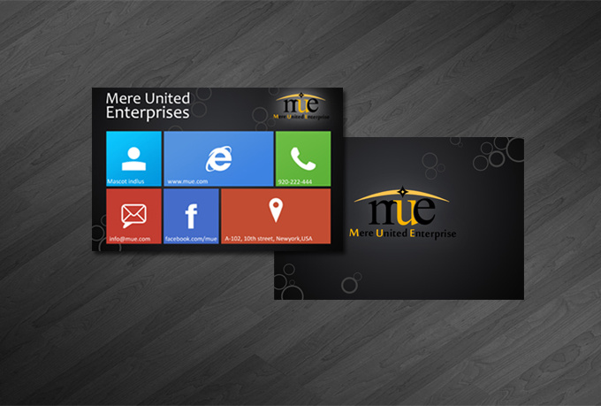 Design You Windows 8 style Business Card