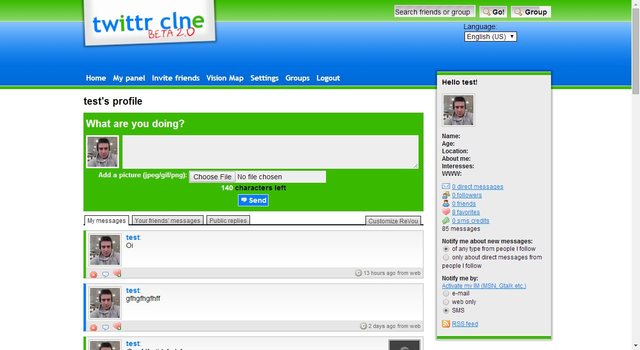 provide you with a Twitter Website PHP script