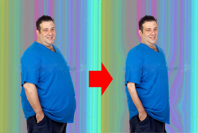 Your Fat photo Convert to Nice Slim one :)