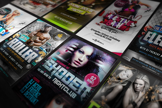 design an awesome nigtclub flyer for your event