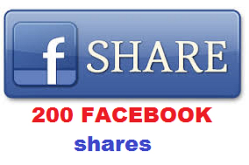 add  Genuine 200 Worldwide shares to your Facebook Post/Comments/Photo