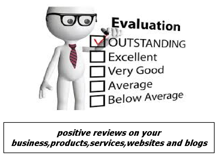 write a positive review for your business, products services, website and blog