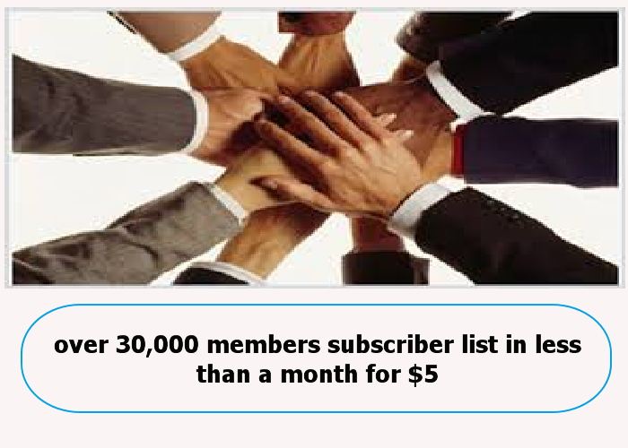 teach you how to make over 30,000 members subscriber list in less than five months