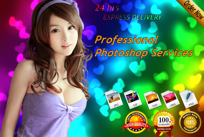 do any Photoshop work Photo Editing,Retouching,Remove Background and Color Restoration in 24hrs