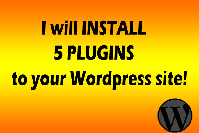 install 5 plugins to your Wordpress site