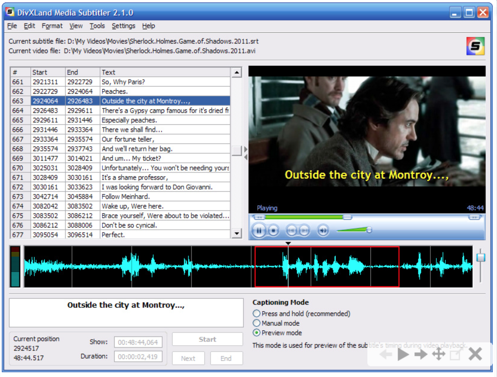 translate english feature film to spanish