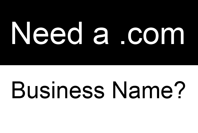 find a domain name for your business (with a .com address)