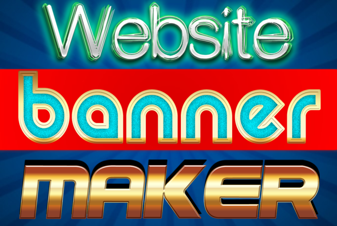 make 2 Creative Website banners and logo