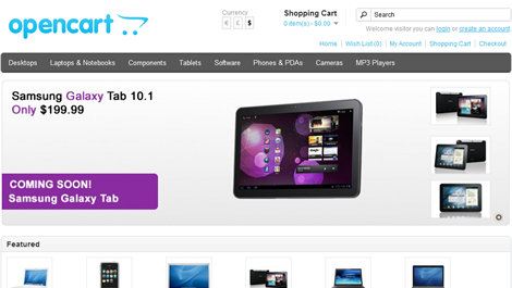 create an E Commerce online store