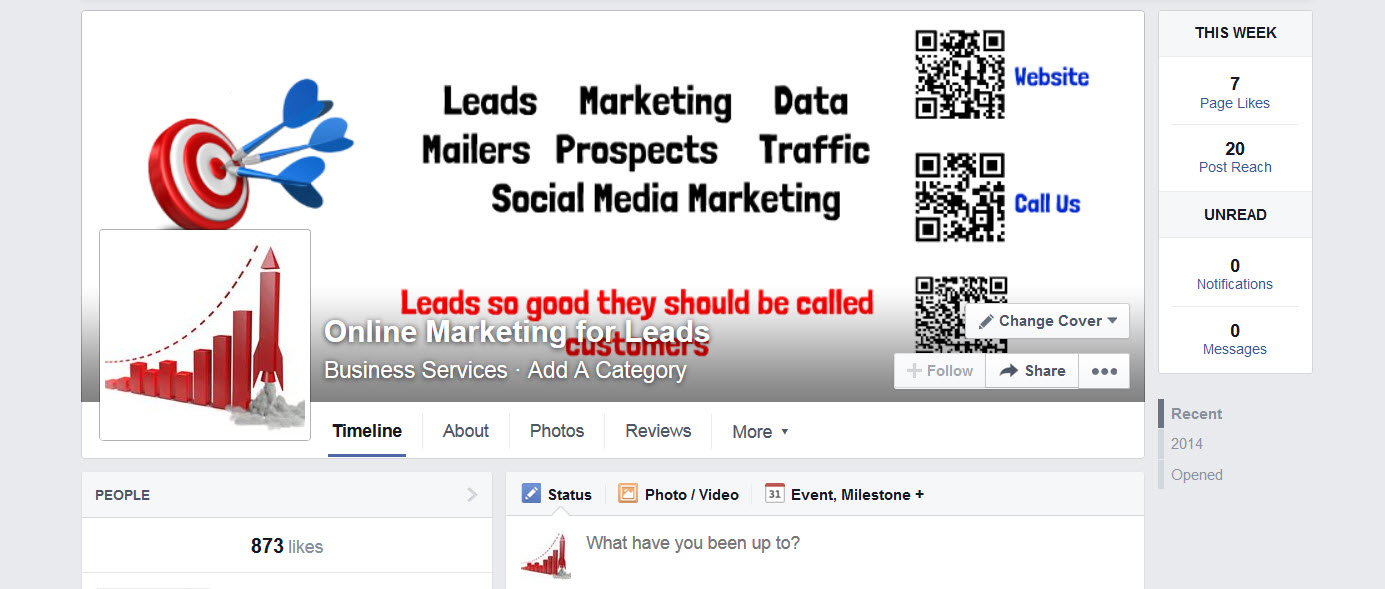 Create Facebook Fan or Business Page and create a landing page with tab SEE Bonus
