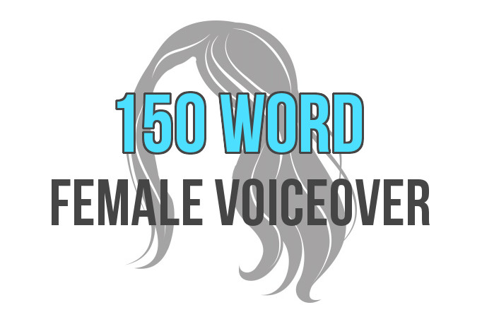 record a 300 word professional female voice over