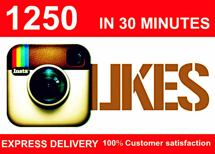 add 1250 Instagram Likes in 30 Minutes